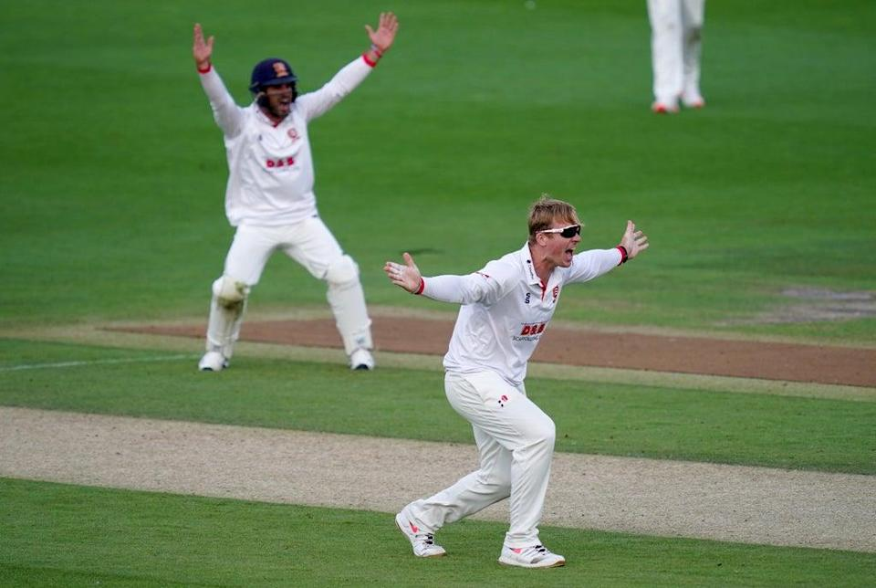 Essex off-spinner Simon Harmer moved to 49 Championship wickets for the season (John Walton/PA) (PA Archive)