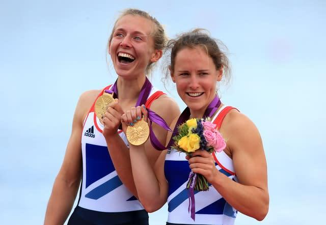 Katherine Copeland (left) and Sophie Hosking enjoyed success in the women's double sculls (Stephen Pond/PA)