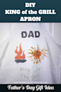 """<p>This DIY apron design is so easy that toddlers can contribute. </p><p><strong><em>Get the tutorial at <a href=""""https://www.healthyhappythriftyfamily.com/diy-king-of-the-grill-apron/"""" rel=""""nofollow noopener"""" target=""""_blank"""" data-ylk=""""slk:Healthy Happy Thrifty Family"""" class=""""link rapid-noclick-resp"""">Healthy Happy Thrifty Family</a>. </em></strong></p>"""