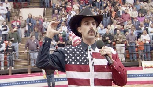 'Borat: Cultural Learnings of America for Make Benefit Glorious Nation of Kazakhstan' (2007) Rated R for pervasive strong crude and sexual content including graphic nudity, and language.