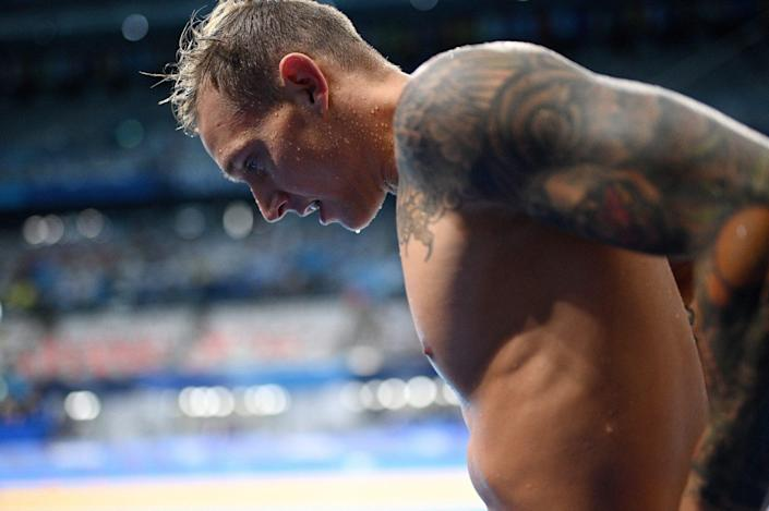 """<p>Getting visibly emotional after his races, Dressel admitted to reporters """"I cry a lot.""""</p>"""