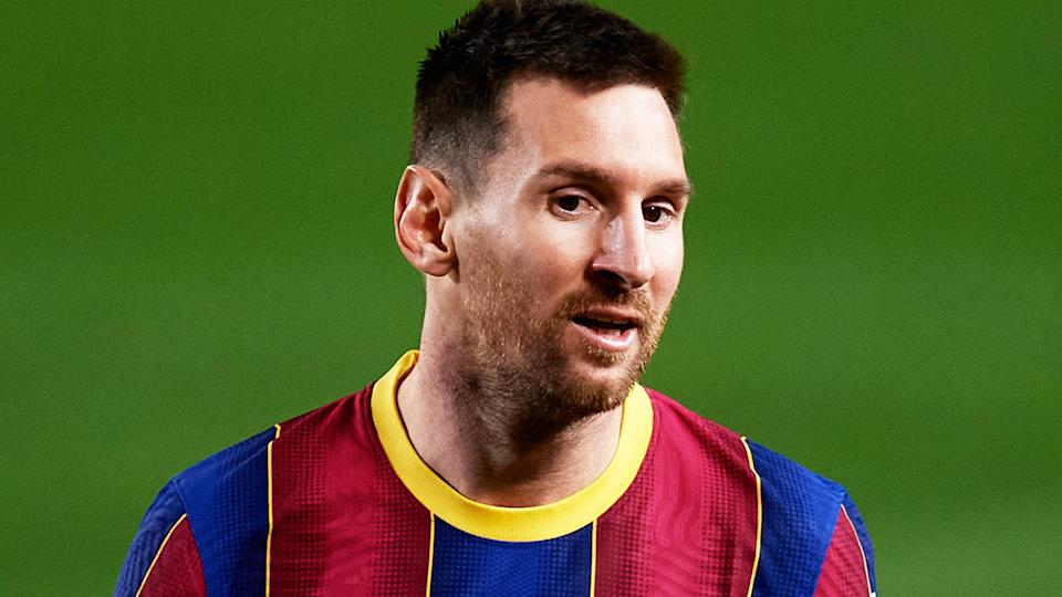FC Barcelona has launched legal action against a news outlet which published leaked details of Lionel Messi's monster contract. (Photo by Alex Caparros/Getty Images)