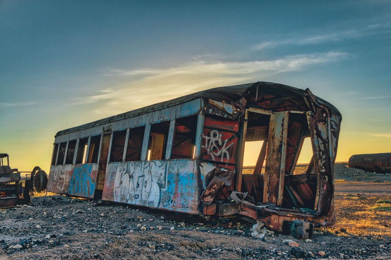<p>Graffiti covers an abandoned railcar. Chris Staring/@skaremedia/REX/Shutterstock</p>