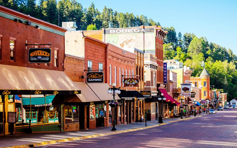 Historic Main Street. Deadwood, South Dakota, USA