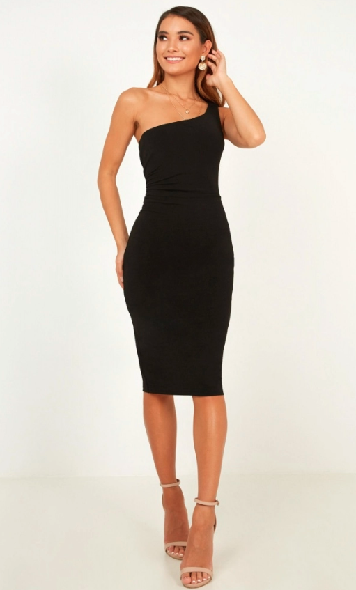 Showpo Got Me Looking Dress In Black - $64.95