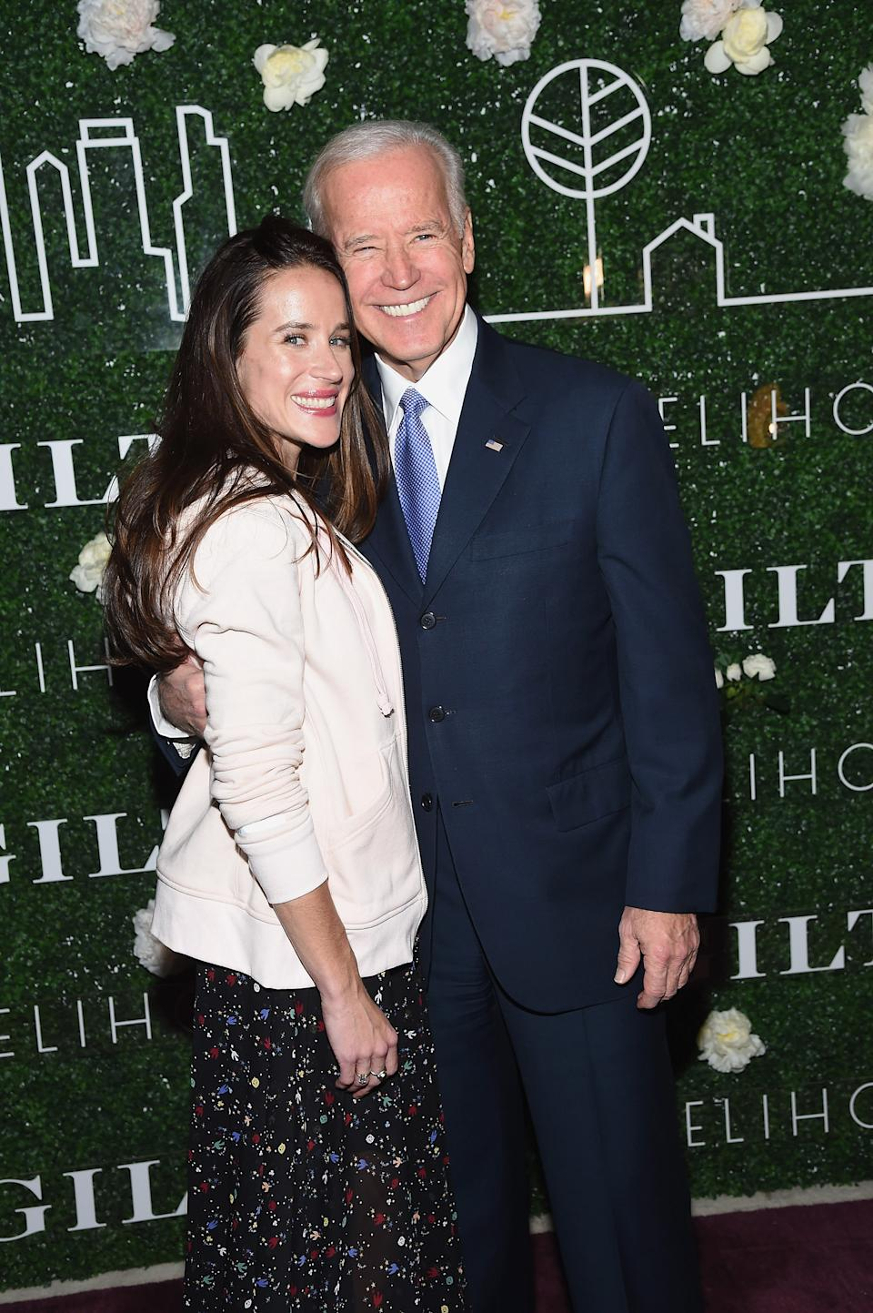 Ashley Biden and Joe Biden attend Gilt x Livelihood launch event at Spring Place on February 7, 2017 in New York City.