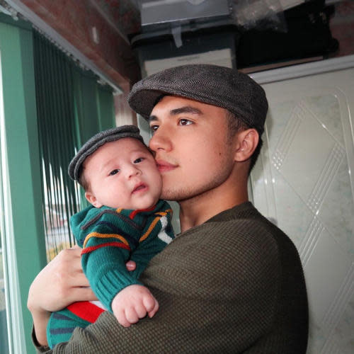 Markus Paterson with son Jude