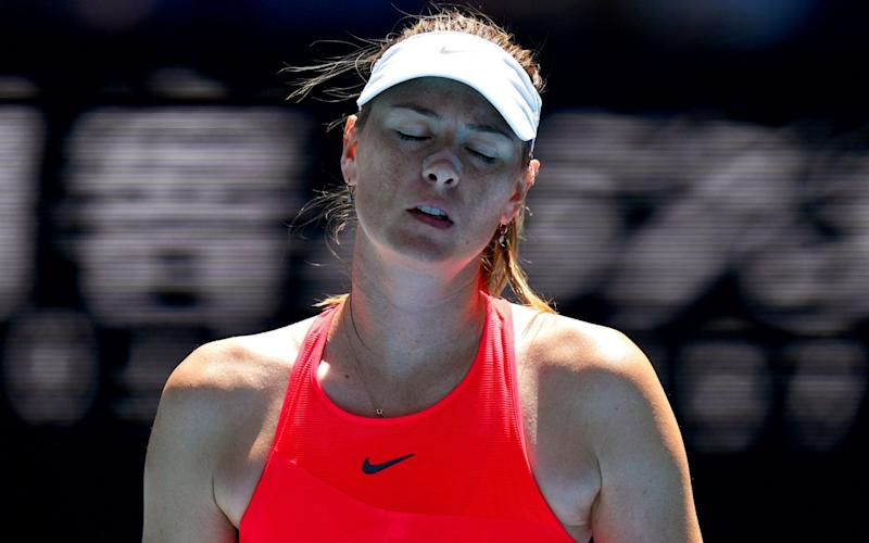 Maria Sharapova crashed out of the Austrlian Open in the first round on Tuesday - REX