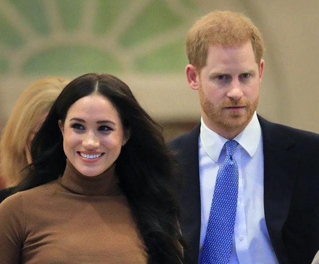 Meghan and Harry have spent much of their time in lockdown, since leaving the monarchy. Aaron Chown/PA Wire