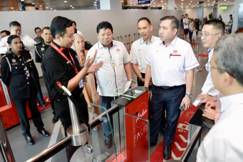 Transport Minister Anthony Loke being briefed on the Senai International Airport's operations during his working visit to Johor April 18, 2019. — Picture courtesy of Transportation Ministry
