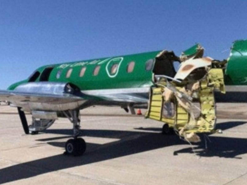 One of the planes was almost ripped in half (CBS Denver/AP)