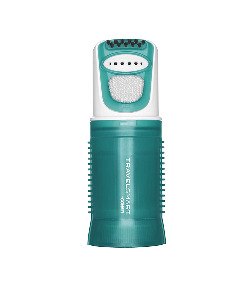 The Conair Travel Smart 450 Watt Dual Voltage Garment Steamer features a detachable bristle and lint brush, too. (Photo: Amazon)