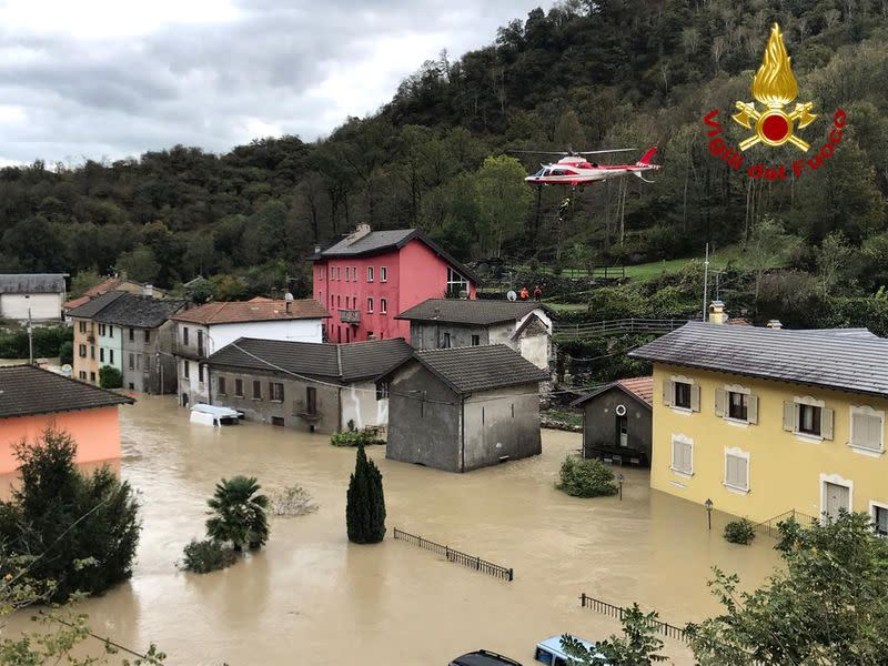 Seven bodies found in northern Italy, France after violent storms