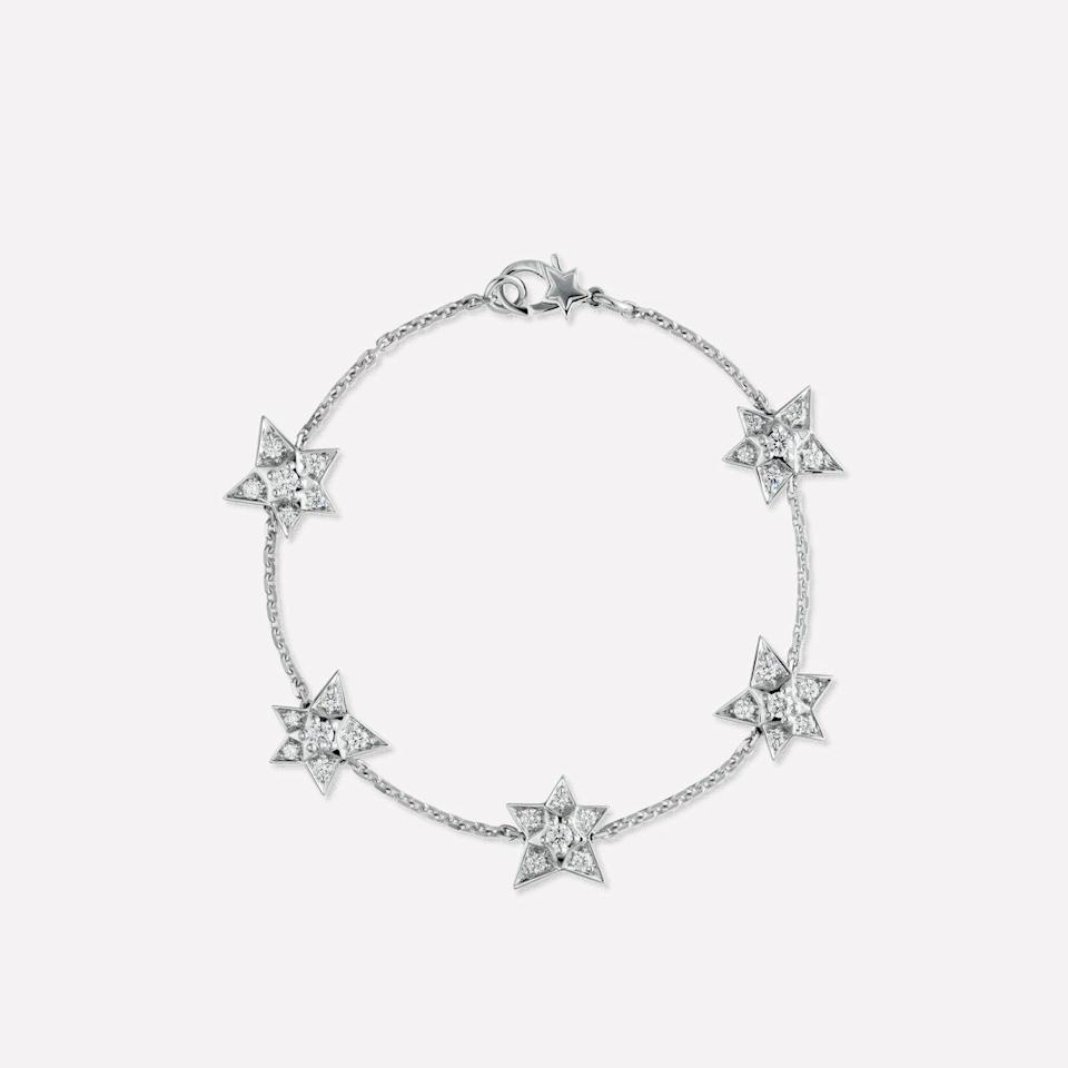 """<p><a class=""""link rapid-noclick-resp"""" href=""""https://go.redirectingat.com?id=127X1599956&url=https%3A%2F%2Fwww.chanel.com%2Fen_GB%2Fwatches-jewellery%2Fjewellery%2Fp%2Fcomete-geode-bracelet%2FJ2788&sref=https%3A%2F%2Fwww.townandcountrymag.com%2Fuk%2Fstyle%2Fjewellery%2Fg34491428%2Fbest-halloween-jewellery%2F"""" rel=""""nofollow noopener"""" target=""""_blank"""" data-ylk=""""slk:SHOP NOW"""">SHOP NOW</a></p><p>A starry diamond chain by Chanel that's sure to become a classic and well-loved piece in your collection. </p><p>White gold and diamond bracelet, £9,900, Chanel Fine Jewellery</p>"""