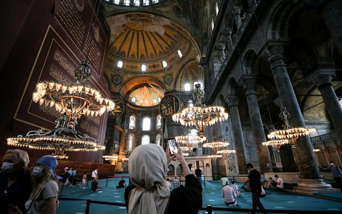 The Hagia Sophia was turned into a museum by modern Turkey's founder, Ataturk, in 1934 - Getty
