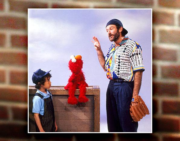 """<a href=""""http://en.wikipedia.org/wiki/List_of_guest_stars_on_Sesame_Street"""" rel=""""nofollow"""">Movie stars, heads of state, astronauts</a> — more than 400 special guests have stopped by """"Sesame Street."""" (Trivia: <a href=""""http://www.time.com/time/arts/article/0,8599,1937077,00.html"""" rel=""""nofollow"""">James Earl Jones was the first celebrity guest</a>.) Elmo has shared screentime with first ladies <a href=""""http://www.sesamestreet.org/video_player/-/pgpv/videoplayer/0/579a3192-1551-11dd-8ea8-a3d2ac25b65b/peter_s_chair"""" rel=""""nofollow"""">Barbara Bush</a> and <a href=""""http://www.sesamestreet.org/video_player/-/pgpv/videoplayer/0/d1ccdb83-c286-4d27-b2e3-743e86aa0da2/michelle_obama_healthy_habits"""" rel=""""nofollow"""">Michelle Obama</a>, was serenaded by <a href=""""http://www.sesamestreet.org/video_player/-/pgpv/videoplayer/0/64e94c74-d7fa-4112-9e37-000120c936d7/adam_sandler_song_about_elmo"""" rel=""""nofollow"""">Adam Sandler with a song about """"Elmo""""</a>, and watched <a href=""""http://www.youtube.com/watch?v=zqHfser_9_s"""" rel=""""nofollow"""">Robert DeNiro turn into, well, Elmo</a>. But among the most frequent visitors to stand out may be Robin Williams. The comic actor has paid half a dozen visits, and his most memorably classic may be the dizzying segment when he showed Elmo <a href=""""http://www.youtube.com/watch?v=n0v5TIbTG9Q"""" rel=""""nofollow"""">what to do with a stick</a>."""