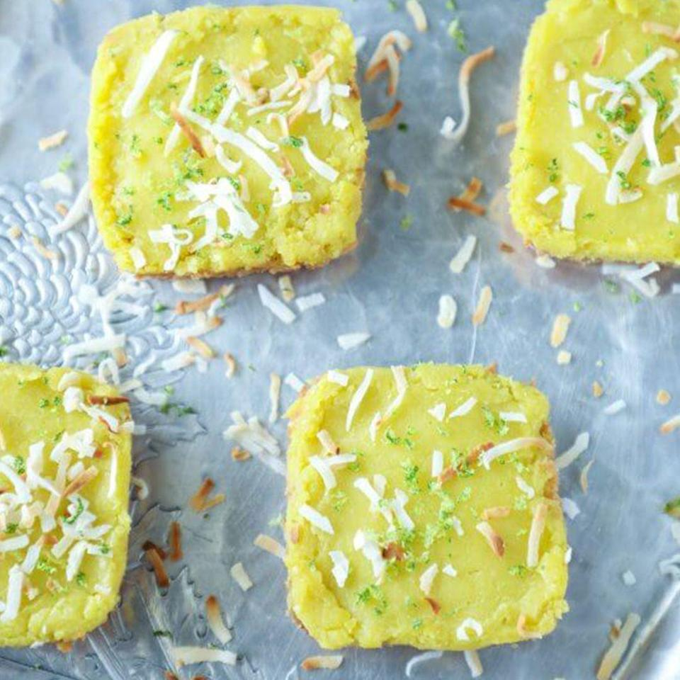 """<p>I'll be so disappointed if you don't bring these to a summer cookout.</p><p><a class=""""link rapid-noclick-resp"""" href=""""https://www.ibreatheimhungry.com/keto-coconut-lime-bars-low-carb-gluten-free/"""" rel=""""nofollow noopener"""" target=""""_blank"""" data-ylk=""""slk:Get the recipe"""">Get the recipe</a><br></p><p><em>Per serving: 192 calories, 19 g fat, 4 g carbs, 2 g sugar, 2 g fiber, 4 g protein</em></p>"""