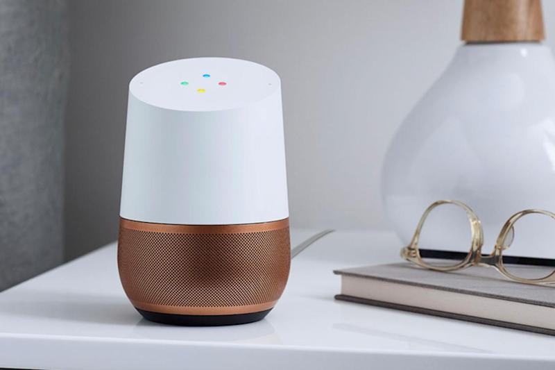 The Google Home features the Google Assistant, a smart AI to help out around the home (Google)