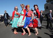<p>Who said dressing up has to involve subtle shades? [Photo: PA] </p>