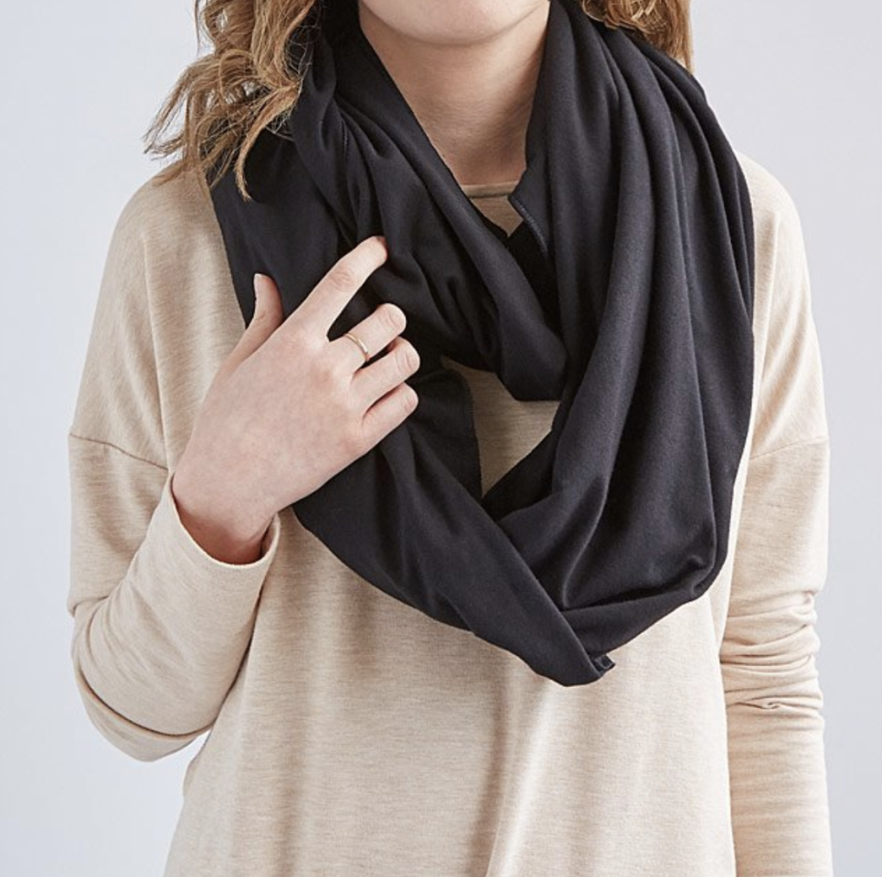 """<p>$35</p><p><a rel=""""nofollow"""" href=""""https://www.uncommongoods.com/product/convertible-travel-pillow-infinity-scarf"""">SHOP NOW</a></p><p>This warm <a rel=""""nofollow"""" href=""""https://www.womansday.com/style/fashion/g551/10-sassy-scarves-for-spring-63957/"""">scarf</a> hides an inflatable pillow inside, perfect for those long-haul flights.</p>"""