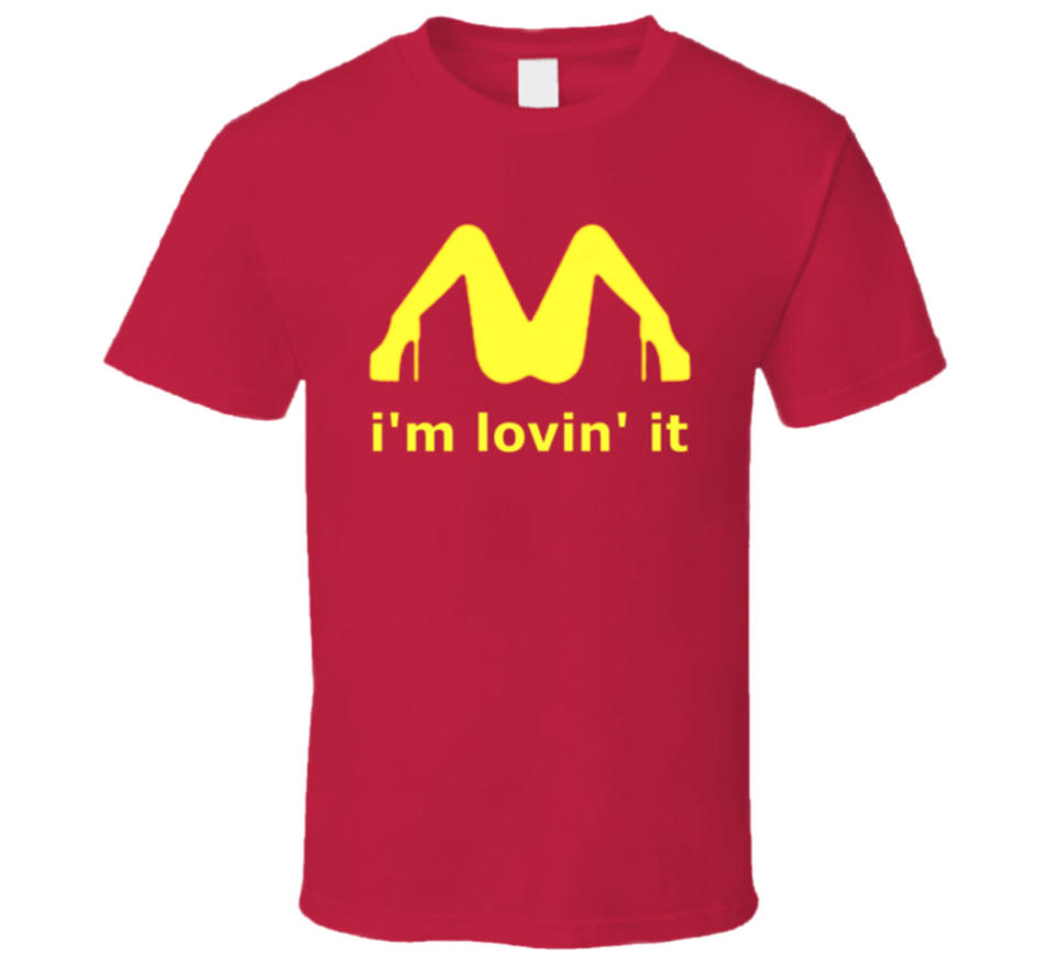 A mortified mom thought her 9-year-old son was wearing a McDonald's T-shirt. Neither realized the shirt has a sexually suggestive image on it until after school. (Photo: Live-Tees.com)
