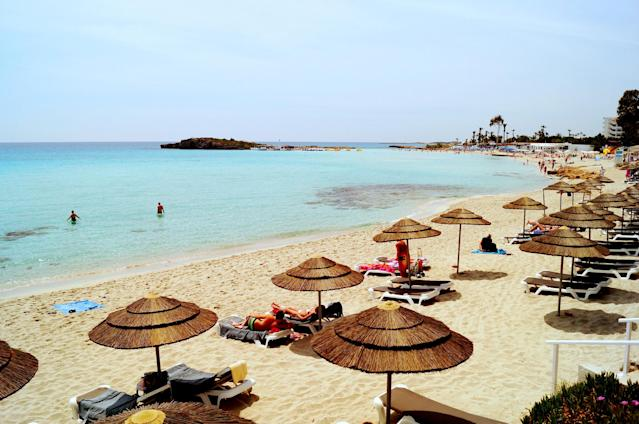 <p>No. 10 Most Affordable Beaches: Cyprus<br> Sunscreen: $8.32<br> Water: $0.71<br> Beer: $2.25<br> Ice Cream: $2.10<br> Lunch: $8.90<br><b>Total: $22.28</b><br> (Photo: Nissi Beach in Ayia Napa, Cyprus/CTO Zurich/<span>Flickr</span>) </p>