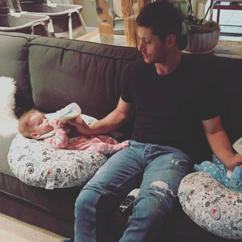 Jensen Ackles Cracks a Typical Dad Joke in This Sweet Post With His Twins