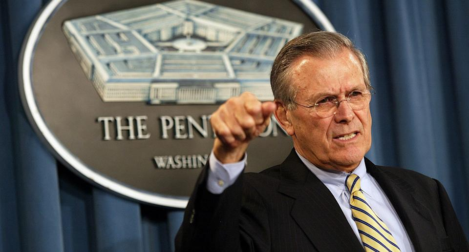 US Secretary of Defence Donald Rumsfeld has died aged 88, his family says. Source: AP