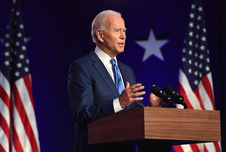 Joe Biden à Wilmington (Delaware), le 7 novembre 2020. - ANGELA WEISS / AFP