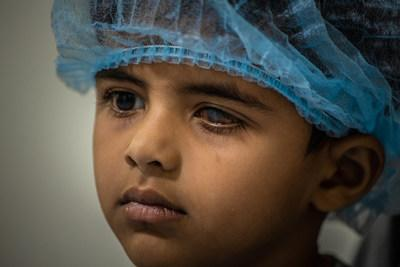 A young patient of the the Tej Kohli Cornea Institute in India awaits a free corneal transplant. The Tej Kohli Cornea Institute in the UK is building on its track record for making interventions to cure blindness by funding the invention of new and novel treatment solutions in the UK that can be scaled into poorer communities around the world.