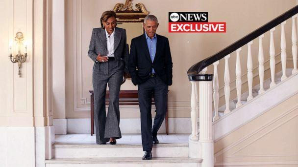 PHOTO: 'Good Morning America' co-anchor Robin Roberts sat down with former President Barack Obama for an interview in Chicago ahead of the Obama Presidential Center groundbreaking, Sept. 26, 2021. (Taylor Glascock/ABC News)