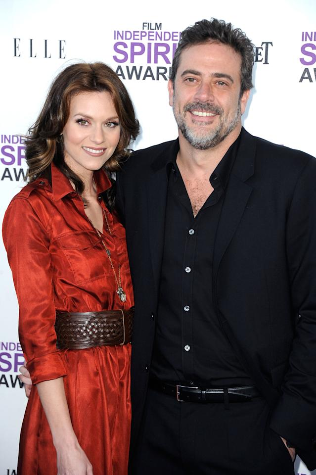 SANTA MONICA, CA - FEBRUARY 25:  Actors Hilarie Burton (L) and Jeffrey Dean Morgan arrive at the 2012 Film Independent Spirit Awards on February 25, 2012 in Santa Monica, California.  (Photo by Frazer Harrison/Getty Images)