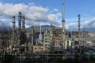 FILE PHOTO: Parkland Fuel's refinery in Burnaby
