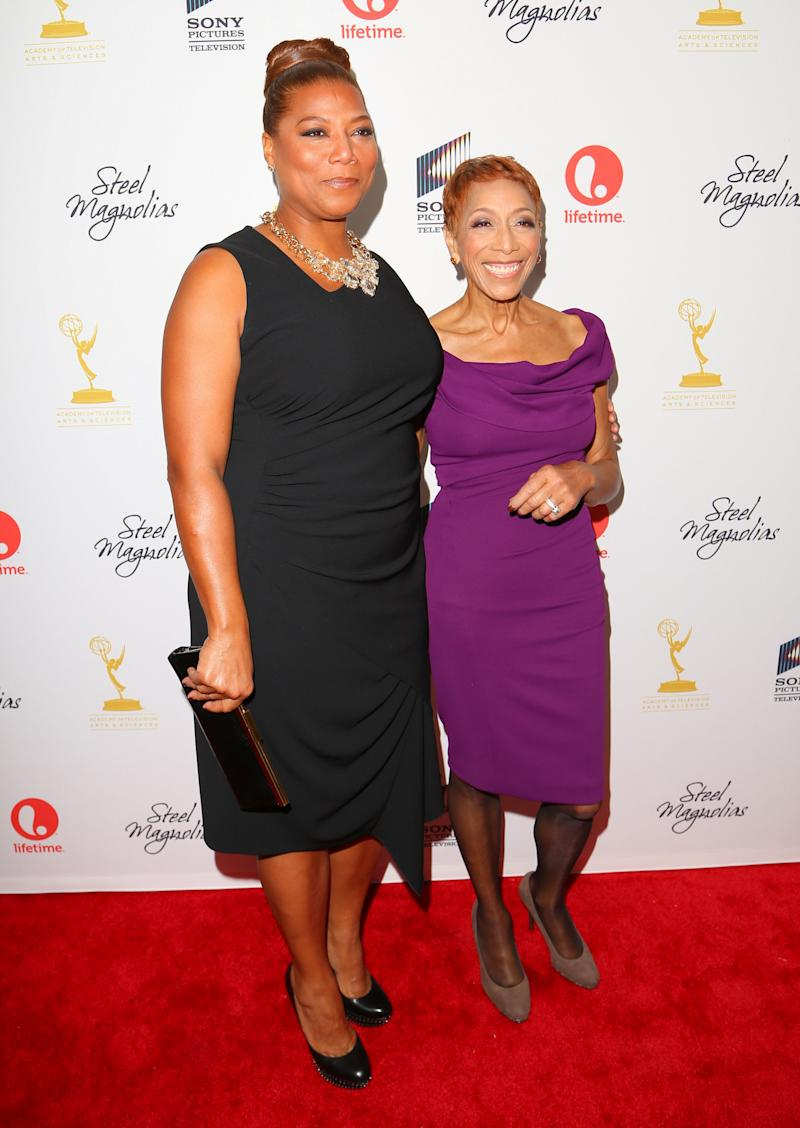 """Queen Latifah and her mother, Rita Owens, attend the """"Steel Magnolias"""" premiere at the Paris Theatre on Oct. 3, 2012 in NYC."""