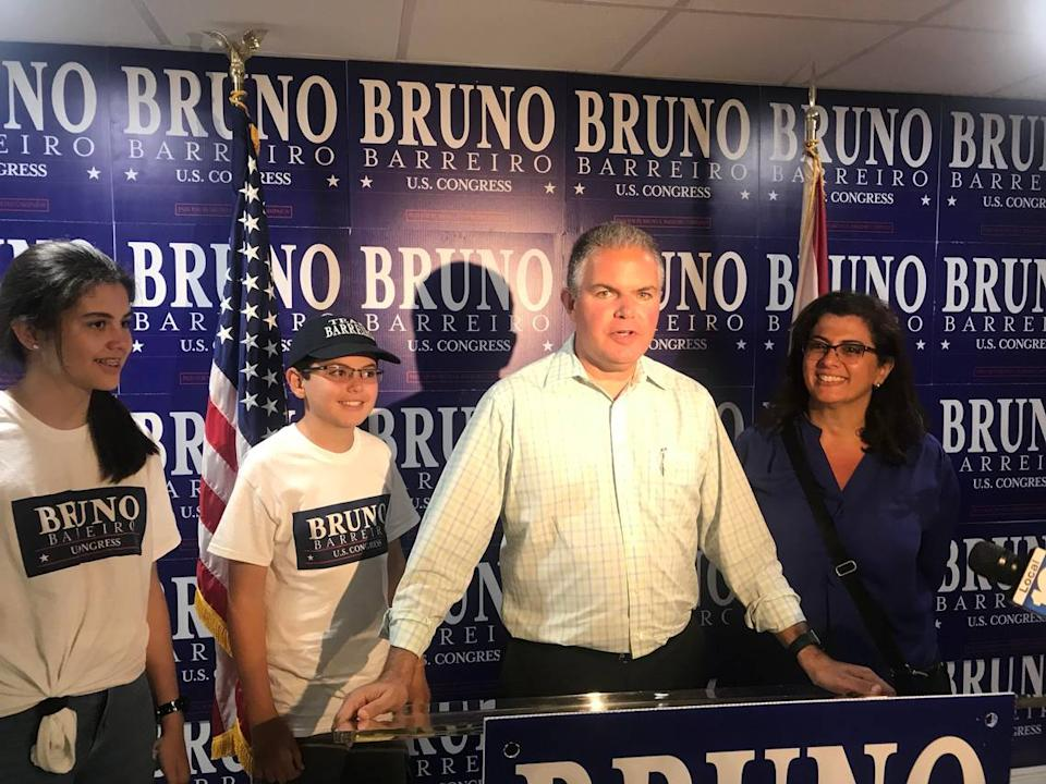 Former Miami-Dade County Commissioner Bruno Barreiro concedes defeat in the 2018 GOP race to replace retiring Congresswoman Ileana Ros-Lehtinen.