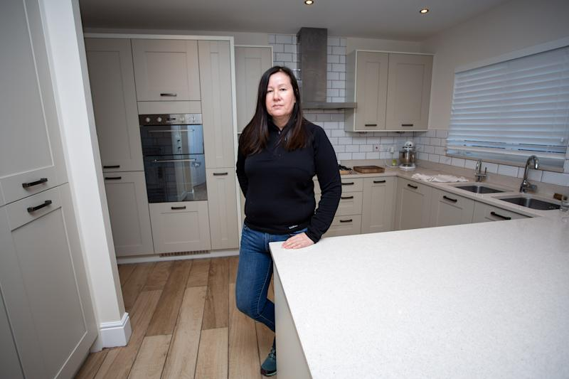 Lucy paid £475,000 for the four-bedroom house in 2016 - but has had to spend another £25,000 fixing the electrics, drainage, and bathroom tiles (Picture: SWNS)