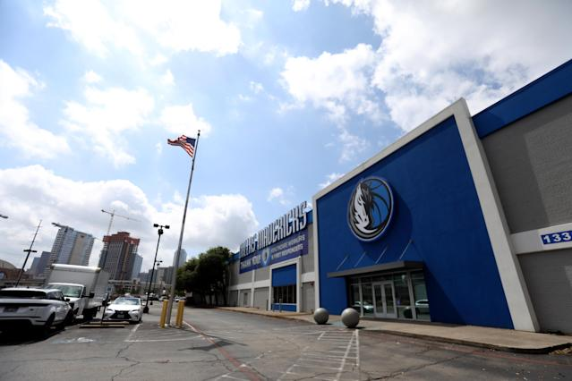 The Mavericks practice facility will remain unused. (Photo by Ronald Martinez/Getty Images)