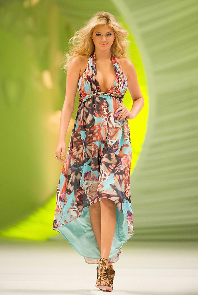 MEXICO CITY, MEXICO - MARCH 01: Model Kate Upton walks the runway during the Liverpool Fashion Fest Spring/Summer 2012 fashion show at Liverpool Polanco on March 1, 2012 in Mexico City, Mexico.
