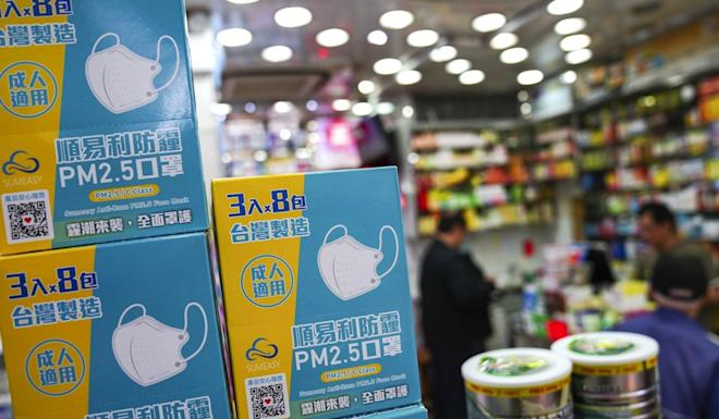 Disposable surgical masks are also being snapped up by buyers amid the virus scare. Photo: Sam Tsang