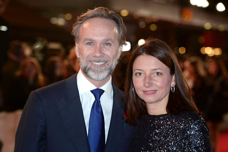 Chef Marcus Wareing and wife arriving for the Burnt premiere at Vue West End, Leicester Square, London. PRESS ASSOCIATION Photo. Picture date: Wednesday October 28, 2015. Photo credit should read: Anthony Devlin/PA Wire