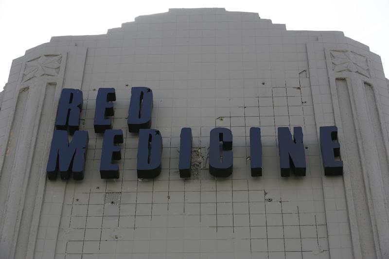 This Tuesday, April 2, 2013 photo shows The Red Medicine restaurant in Beverly Hills, Calif. Noah Ellis, co-owner of Red Medicine, recently took to Twitter to publicly call out those who skipped out on their reservations on a recent busy Saturday. He took the unusual step after turning away walk-up customers because he thought his 50-something-seat restaurant was booked solid during the popular 6:30-9 p.m. window, and forcing loyal customers to book earlier or later times. (AP Photo/Damian Dovarganes)