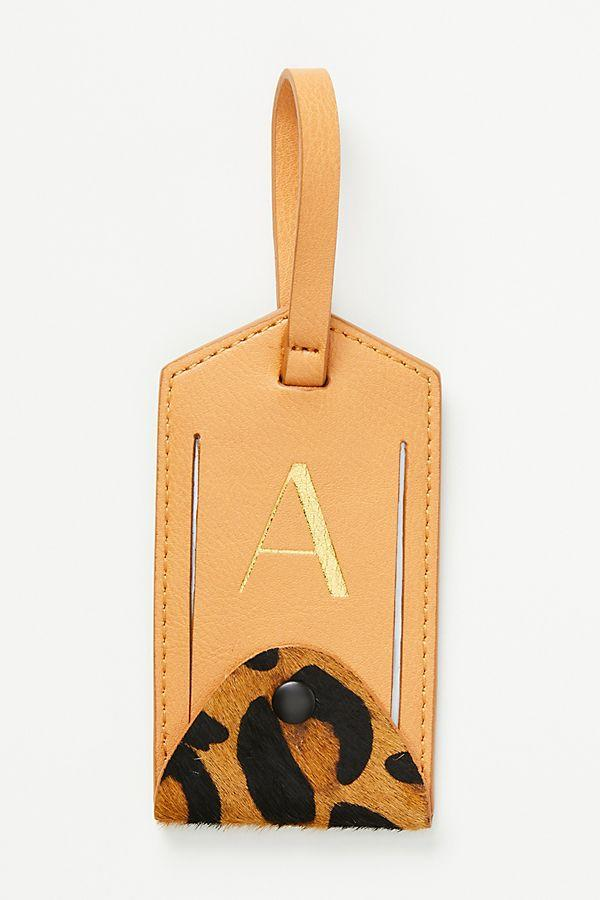 Animalia Monogram Luggage Tag