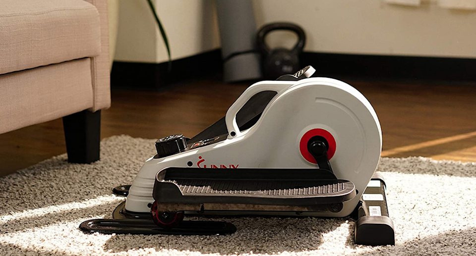 The Sunny Health & Fitness Magnetic Portable Elliptical Machine is on sale now. Image via Amazon.