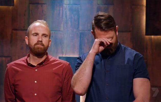 Is that a man tear we spy, Kyle? Source: Channel Seven