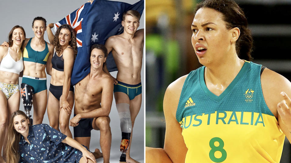 Liz Cambage, pictured here in action at the 2016 Olympics.