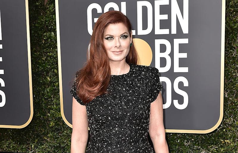Debra Messing Calls Out E! on the Network's Own Red Carpet