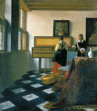 Vermeer's original 'The Music Lesson'