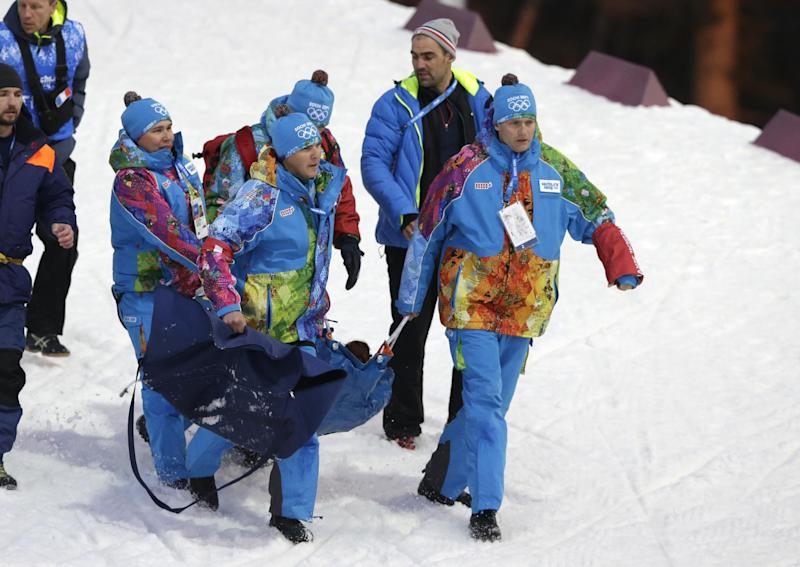 French biathlete hospitalized after collapsing