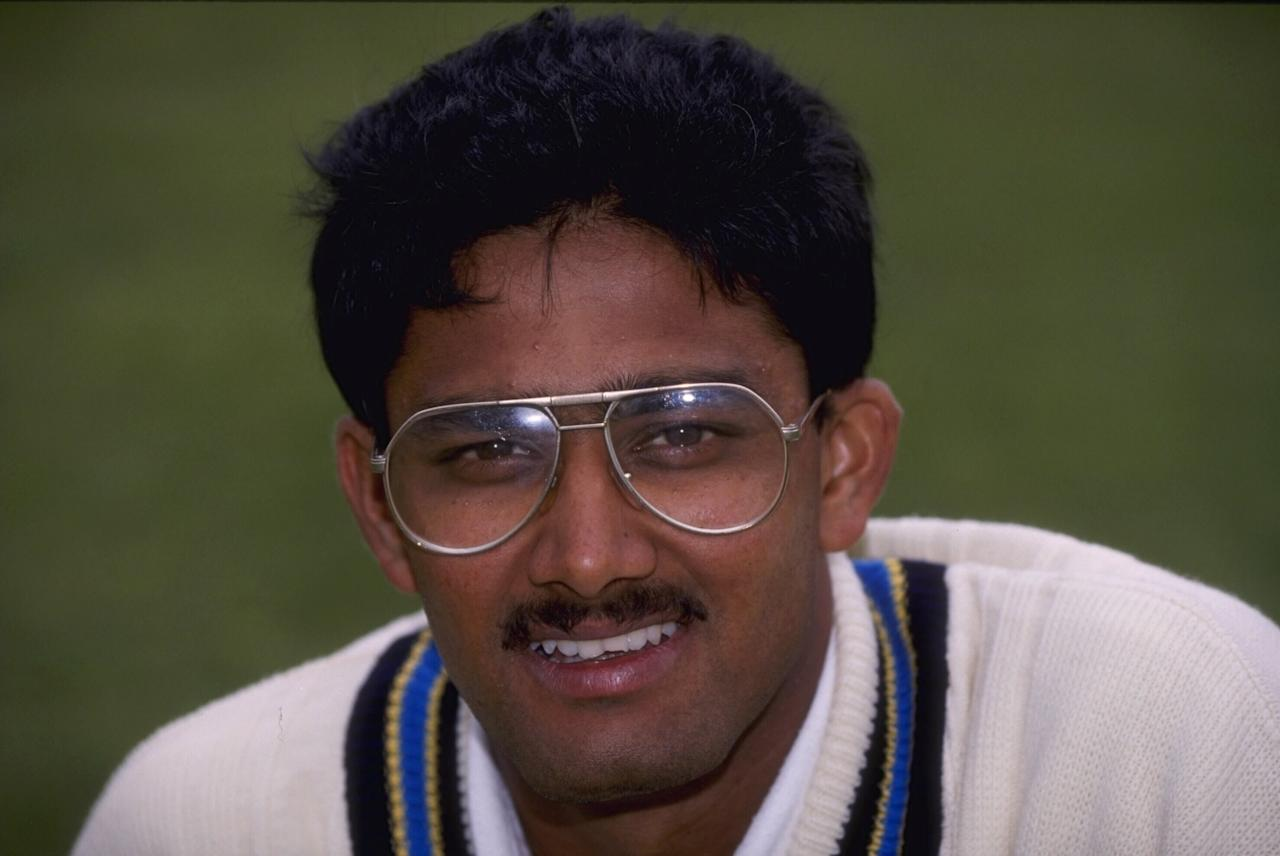 Nov 1992:  Portrait of Anil Kumble of India.