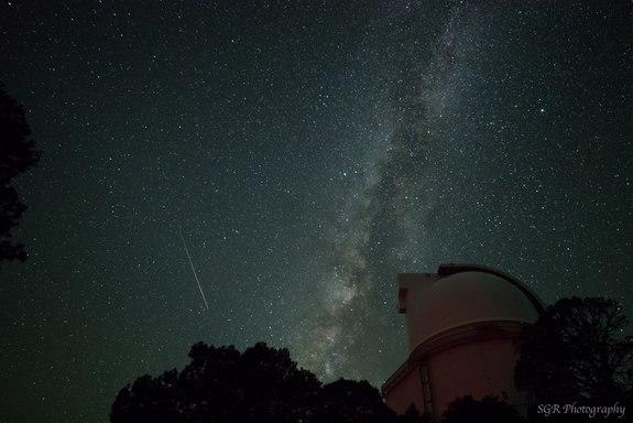 Stargazer Sergio Garcia Rill sent in a photo of a Perseid fireball captured early August 11, 2013, from the top of Mt. Locke in the Davis Mountains of west Texas. The Milky Way glows above, and below stands the the Harlan J. Smith telescope of